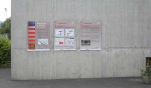 Die von der Gemeinde langnau finanzierten Tafeln geben Auskunft über Technik und Potenzial der Sonnenenergie.